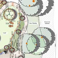 part of landscape design for cairns hillside garden